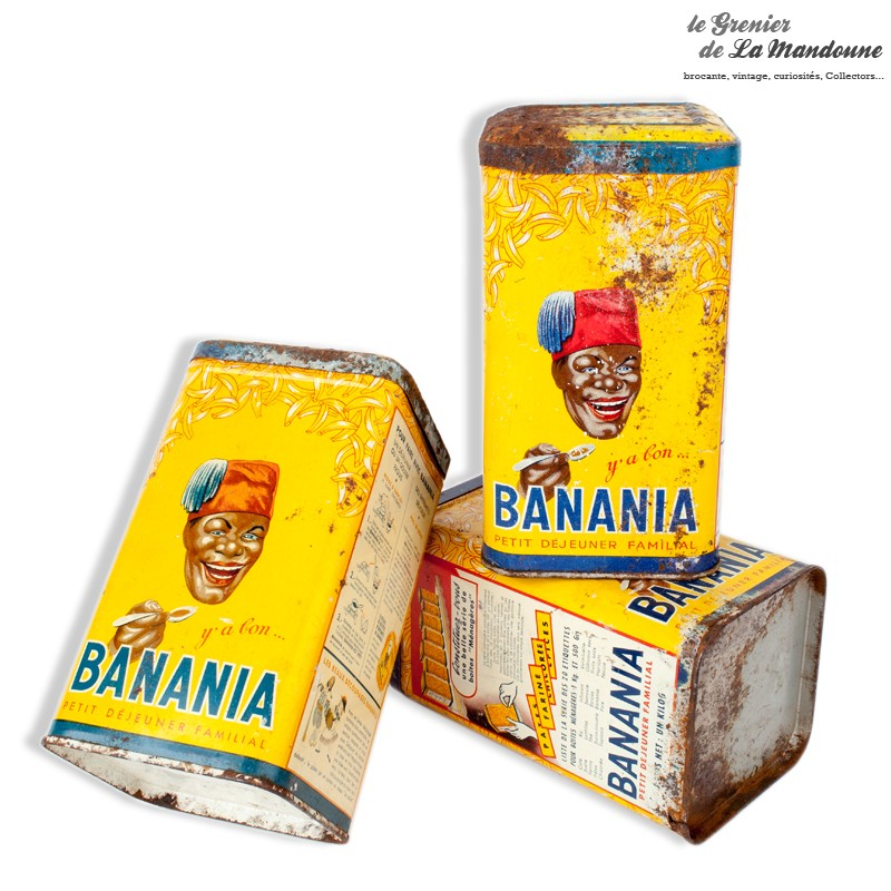 ensemble de 3 boites m talliques banania y a bon banania le petit d jeuner familial. Black Bedroom Furniture Sets. Home Design Ideas