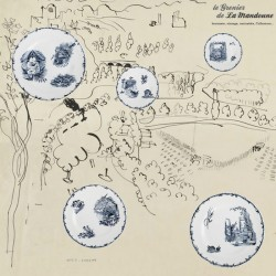 Legrenier de la mandoune. Lot de 5 assiettes HB & Cie Choisy le Roi série Oiseaux. French Antique
