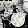 3 assiettes plates Badonviller France, modèle Butterfly 1900 - 1905