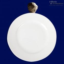2 assiettes plates blanches Digoin & Sarreguemines n°6, 19ème siècle