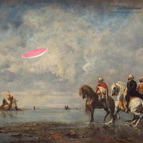 Grand plat ovale en Faïence de Salins France, Collection MISTRAL