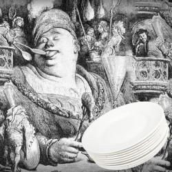 Lot de 10 assiettes blanches anciennes. Traces de pernettes