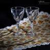 2 Verres a Porto, Muscat ancien, sur pied en cristal taillé à facettes