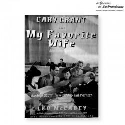 Affiche My favorite wife (1942). Affiche édité par Archeo Pictures (1997)