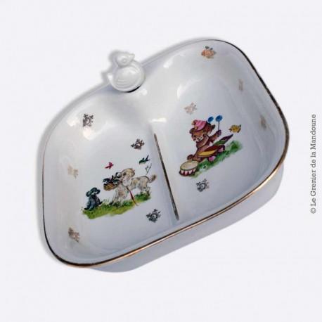assiette chauffante bouillie pour repas b b porcelaine france paris 2. Black Bedroom Furniture Sets. Home Design Ideas