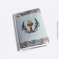 Livre boite pour missel,  porcelaine blanche et OR, Limoges France.