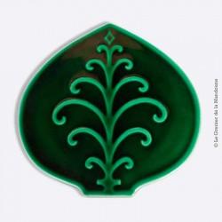 Dessous de plat, céramique émaillée vert