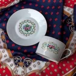 Tasse a thé déjeuner Porcelaine Limoges estampillé d'une couronne et un C - 1966-1998
