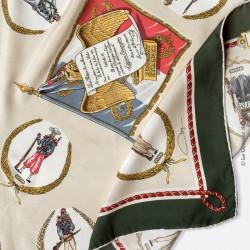 Foulard de collection LR. Paris Vintage Légion étrangère signé - 1er régiment étranger 100% soie. Vintage Scarf TBEG Rare