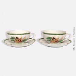 Paire de tasses anciennes gobelet porcelaine de chine