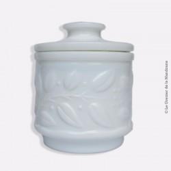Ancien et beaux Pot à onguent (pharmacie) en opaline blanc avec joints