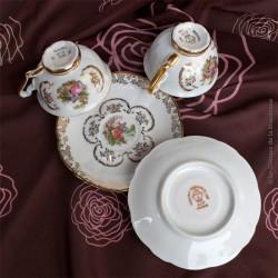 2 Tasses à café Porcelaine de Luxe Royale, ADP France