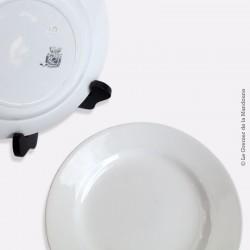 2 assiettes blanches Digoin Sarreguemines vers 1800