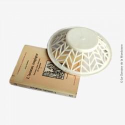 Corbeille celluloïd blanche cassé (ivoire) rétro 50/60's