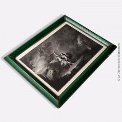 Gravure à l'eau-forte sur acier de Louise Pannier (XIX) d'après une oeuvre de Murillo, encadrée