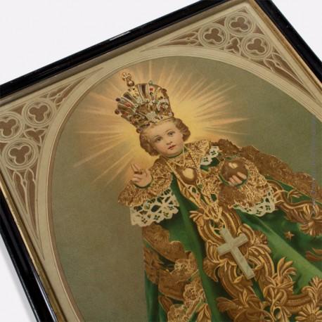 Le Christ roi enfant. Chromolithographie vers 1870 1900, encadrement XIXème siècle
