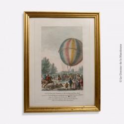 Gravure. La Conquête de l'Espace, les premiers ballons ! - Histoire des ballons. T Sarzenne del & fc aqua forta