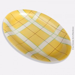 Grand plat ovale SALINS France HOSSEGOR JAUNE
