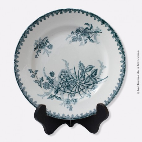 Assiette plate Ste Amandinoise St Amand Margot XIXè 19è siècle