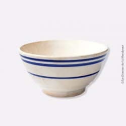 Old Bowl. Ancien bol GIEN Décor rayures bleus 1960 - 1971