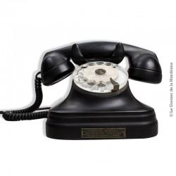 Téléphone à cadran bakélite noir French Vintage 1960
