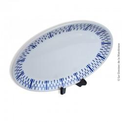 Grand plat ovale BADONVILLER Faïencerie FB