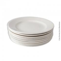 Lot de 10 assiettes blanches Digoin Sarreguemines, 19ème siècle