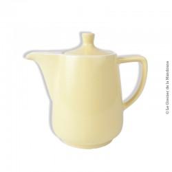 Cafetière vintage en faïence jaune claire MELITTA