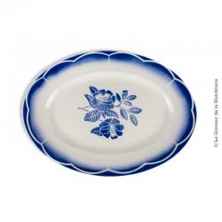 Ancien grand plat ovale Digoin Sarreguemines, modèle MARSAC