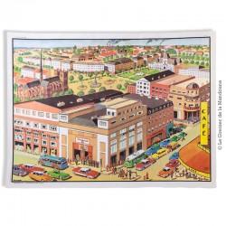 Affiche scolaire vintage N° 22 LA VILLE & N° 23 AU MAGASIN  - V. 3 - Éditions M.D.I. signé R. Bresson