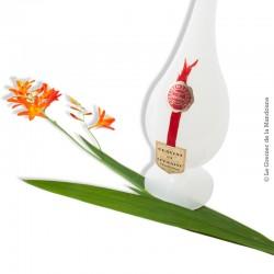 Vase allongé en Opaline véritable de Lorraine PORTIEUX
