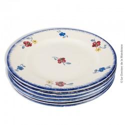 6 assiettes à dessert Mary-Lou Digoin Sarreguemines 1922 - 1965