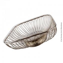 """Corbeille design en métal argenté """"vintage"""""""