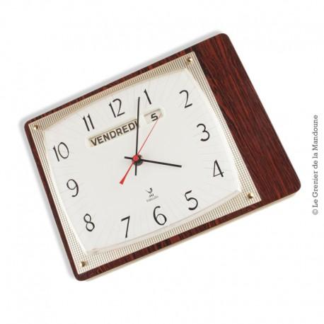 horloge pendule jaz transistor vintage formica lic ato france. Black Bedroom Furniture Sets. Home Design Ideas