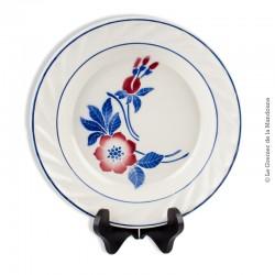 Le Grenier de la Mandoune. Plat creux PEXONNE, Manufacture de Porcelaine Opaque F.F. modèle FLORE N°17 Made in France