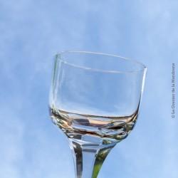 3 verres type bistrot en verre soufflés