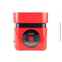 Balance de cuisine Terraillon 1976 rouge. France Vintage