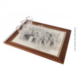 Le Grenier de la Mandoune. 10 verres moulés soufflés à porto ou apéritif, début 20ème siècle