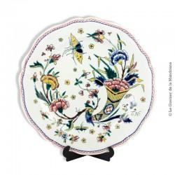 Le Grenier de la Mandoune. Assiette ancienne en faïence de Gien à la corne d'abondance 19ème siècle