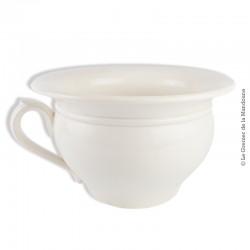 Le Grenier de la Mandoune. Ancien Vase de nuit, Pot de chambre  faïencerie Digoin blanc crème. 1920 - 1950