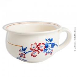 Le Grenier de la Mandoune. Ancien Vase de nuit, Pot de chambre  faïencerie de Pexonne F.F. modèle AVRIL. French Antique
