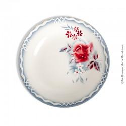 Le Grenier de la Mandoune. Assiette calotte Digoin Sarreguemines, Digoin & Sarreguemines, modèle Lot. French vintage
