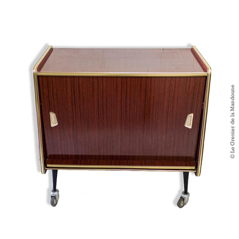 meuble bar t l vision vintage sur roulettes. Black Bedroom Furniture Sets. Home Design Ideas