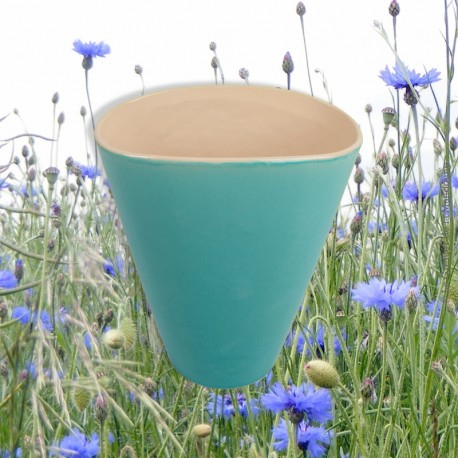 Le Grenier de la Mandoune. Vase PL France céramique vintage V- 83, couleur verre d'eau
