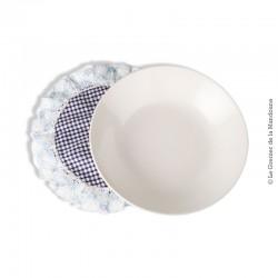 Le Grenier de la Mandoune. Assiette calotte MDL blanche, Made in france. French vintage