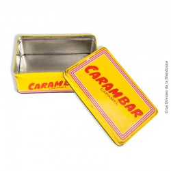 Le Grenier de la Mandoune. Boîte en métal collection CARAMBAR Caramel vintage