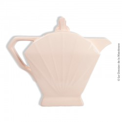 Cafetière st Amand Art Déco rose pâle, St Amandinoise, Made in France