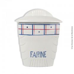 Le Grenier de la Mandoune. Pot à épices (Farine) en faïence K&G Lunéville modèle Malou. French Vintage