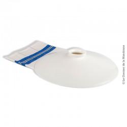 Lustre, abat-jour opaline blanche vintage, 25 cm