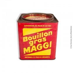 Le Grenier de la Mandoune. Ancienne boîte métal bouillon gras MAGGI - Grand format